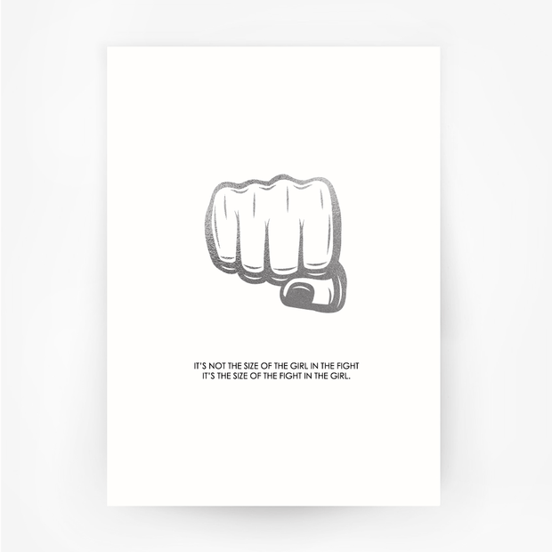 FIST 'Size of the Fight' Print Silver