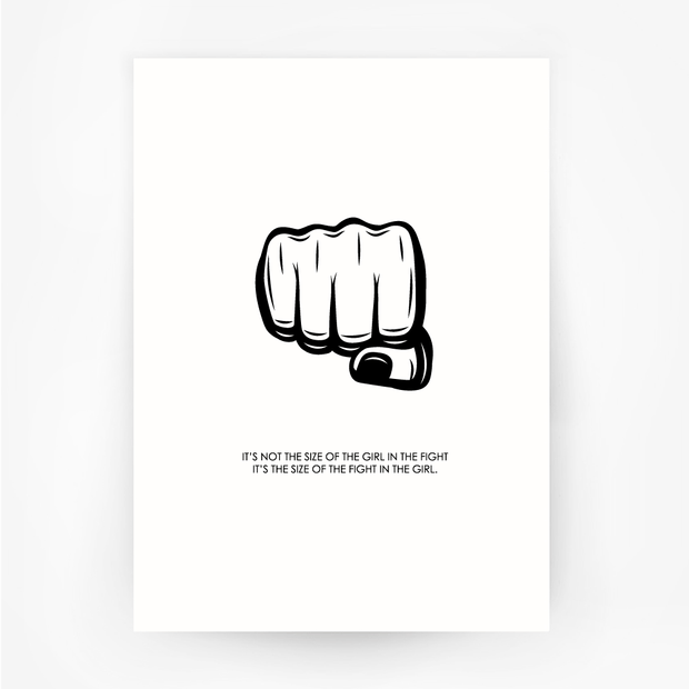 FIST 'Size of the Fight' Print Black