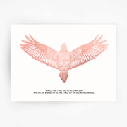 FALCON 'Watch Me' Print Rose Gold