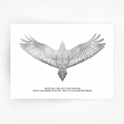 FALCON 'Watch Me' Print Silver