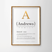 FAMILY Surname Keepsake Print Lifestyle