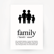 Family Keepsake Black Print