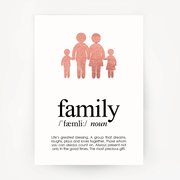 Family Keepsake Rose Gold Foil Print