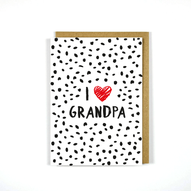 Greeting Card Father's Day I Heart Grandpa