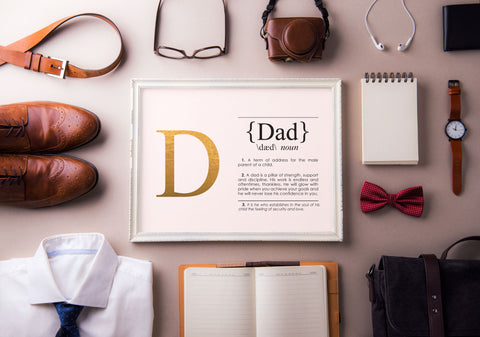 DAD Definition Art Print