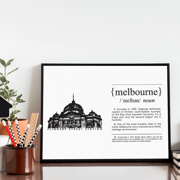 Melbourne Landmark Art Print - Flinder's Street Station