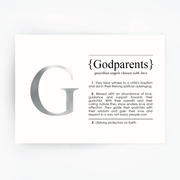 GODPARENTS Definition Art Print Silver Foil
