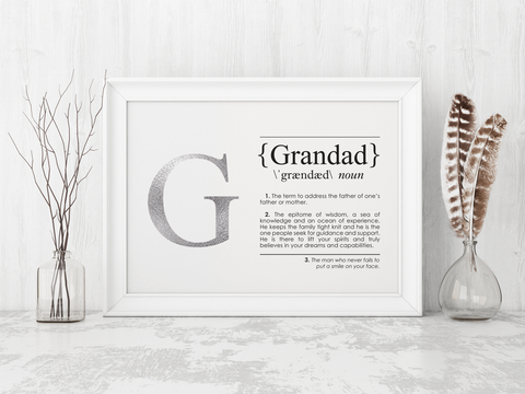 GRANDAD Definition Art Print