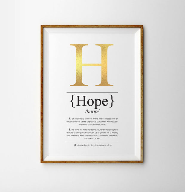 Hope Definition Print Lifestyle