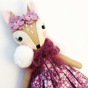 Heirloom Hand Made Fabric Doll Fawn Lily Close Up