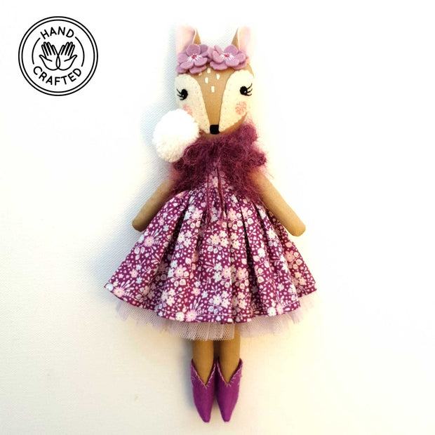 Heirloom Hand Made Fabric Doll Fawn Lily