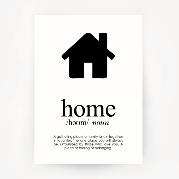 Home Keepsake Black Print