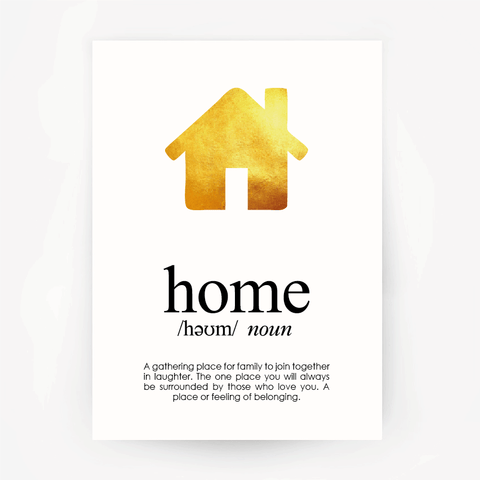 Home Keepsake Gold Foil Print
