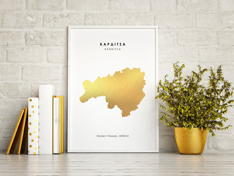 Map KARDITSA Art Foil Print