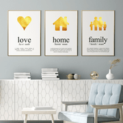 3 Print Set Love, Home and Family