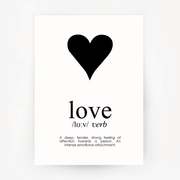 Love Keepsake Black Print