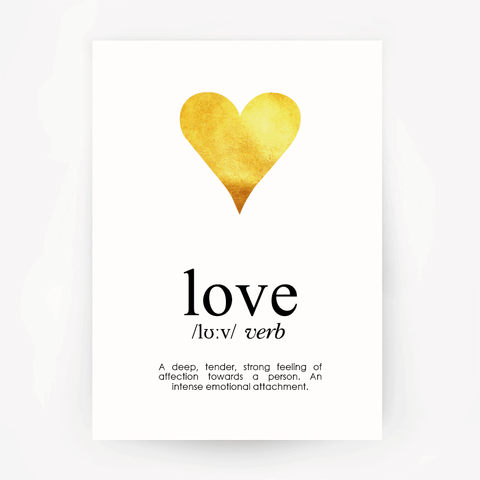 Love Keepsake Gold Foil Print