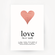 Love Keepsake Rose Gold Foil Print