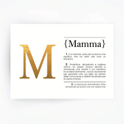 Italian Definition Art Print MAMMA Gold Foil