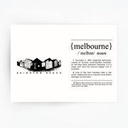 Melbourne Landmark Art Print - Brighton Beach Black