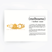 Melbourne Landmark Art Print - Brighton Beach Gold