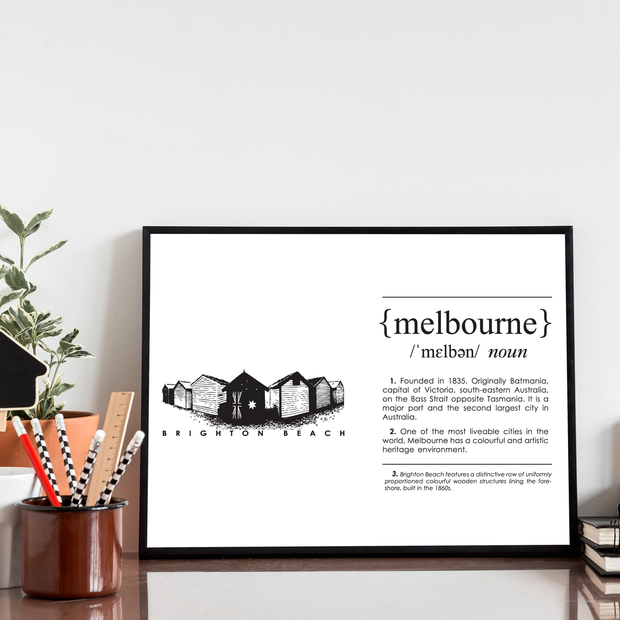 Melbourne Landmark Art Print - Brighton Beach Lifestyle