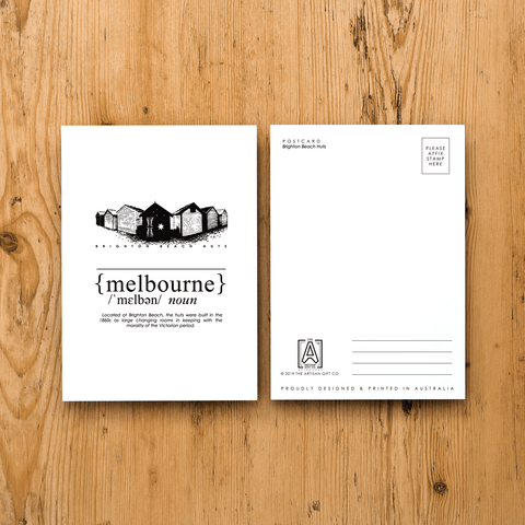 Melbourne Landmark Postcard - Brighton Beach
