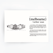 Melbourne Landmark Art Print - Brighton Beach Silver