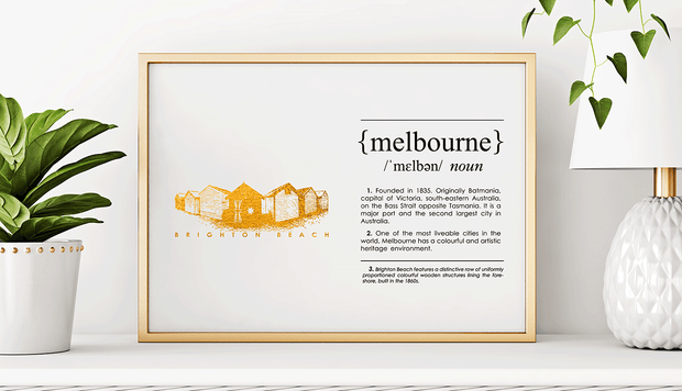 Melbourne Landmark Art Print - Brighton Beach