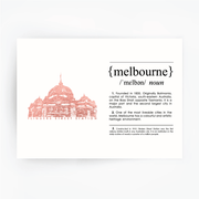 Melbourne Landmark Art Print - Flinder's Street Station Rose Gold