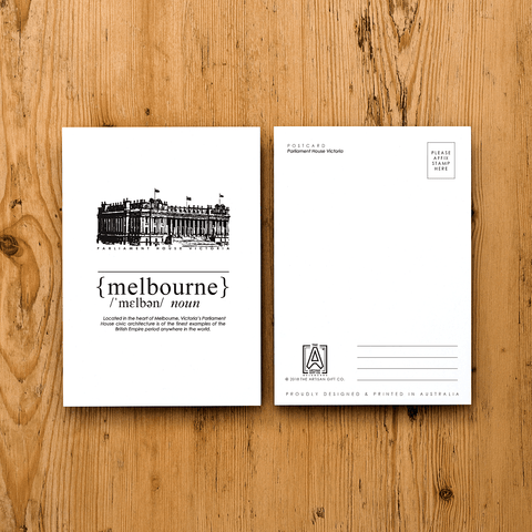 Melbourne Landmark Postcard - Parliament