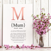 MUM Definition Art Print Portrait