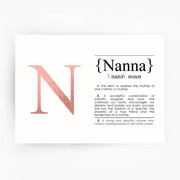 NANNA Definition Art Print Rose Gold
