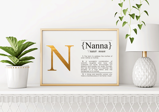 NANNA Definition Art Print Lifestyle