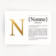 Italian Definition Art Print NONNO Gold