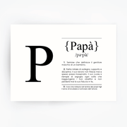 Italian Definition Art Print PAPA Black