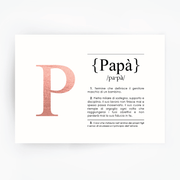 Italian Definition Art Print PAPA Rose Gold Foil