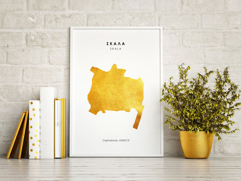 Map SKALA Art Foil Print