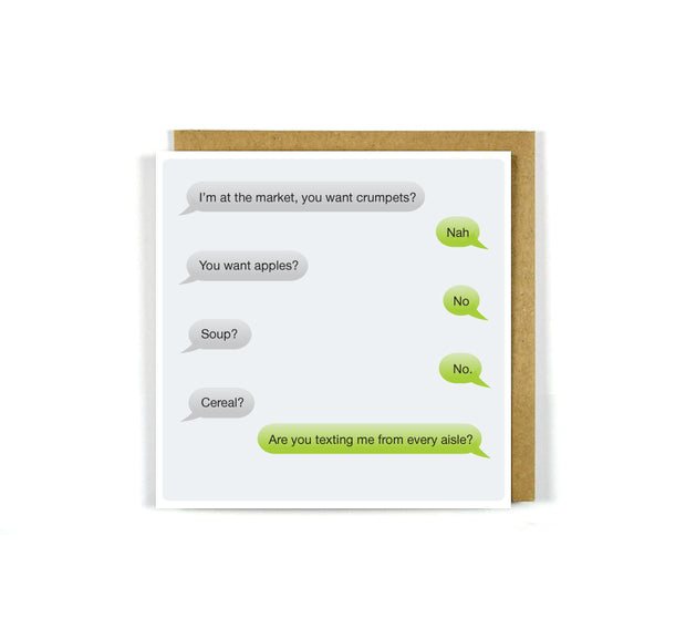 Greeting Card SMS Banter Crumpets