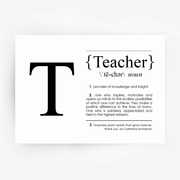 TEACHER Definition Black Print