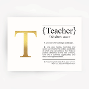 TEACHER Definition Foil Print