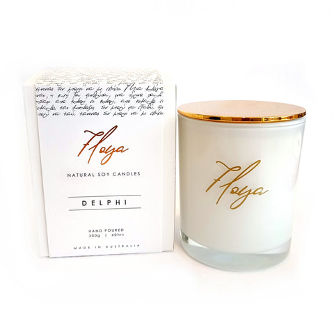 Floya 'DELPHI' Pure Soy Candle White