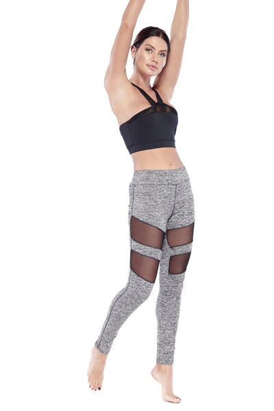High Mesh Panel Leggings