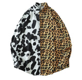 Leopard Cow Spot Two Tone Long Sleeve Hawaiian Shirt