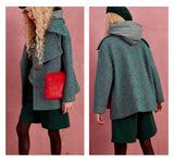 Winter Red Fur Pockets Wool Coat