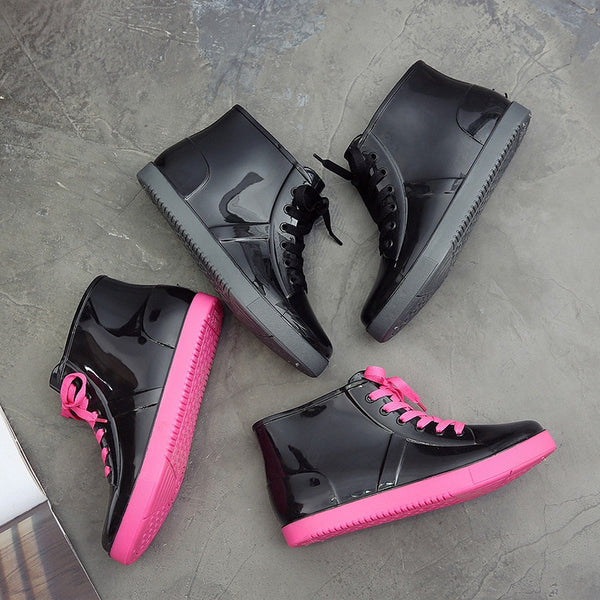 Removable Cover Ankle Rain Boots