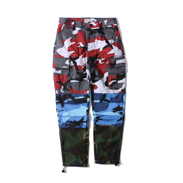 Tri Color Camo Patchwork