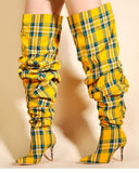 Limited Edition Flannel Thigh High Boots