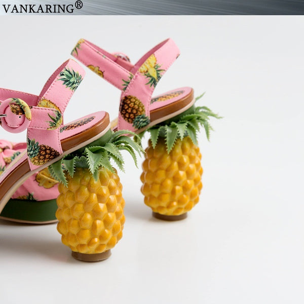 Novelty Fashion Pineapple Heel Pumps