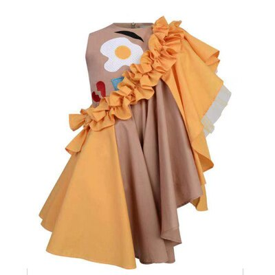 Eggs and Bacon Ruffle Dress